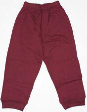 Kids Fleece Track Pant Size 10 Burgundy Maroon School or Play New!