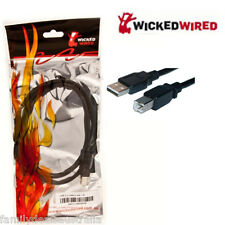 Wicked Wired 2m Type A To Type B USB 2.0 Data Cable