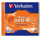 1 DISCO VERBATIM 8 CM 4 X MINI DVD - R 1400 MB DVDS 43509 1.4 GB SLIM JEWEL CASE