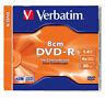 1 DISCO VERBATIM 8 CM 4 X MINI DVD - R 1400 MB DVDS 43509 1.4 GB SLIM JEWEL CASE