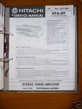manuel de Service pour Hitachi HTA-09 récepteur ORIGINAL