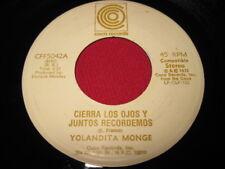 YOLANDA MONGE 45 - CIERRA LOS OJOS - COCO RARE LATIN