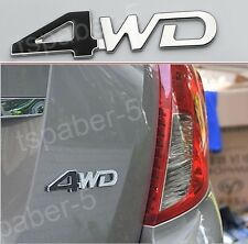 Black&Silver Metal 4WD Badge Emblem Sticker Decal Fit All 4WD Sports Utility SUV