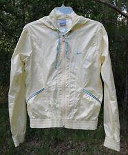 NIKE Women's Athletic Hooded Windbreaker Jacket Lemon-Chiffon Yellow Size S/4-6