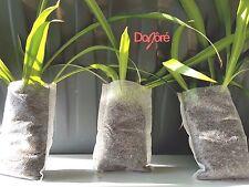 20 x Non Woven White Fabric Eco Seedling Bags 10.2cm Garden Plant Grow Pot