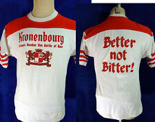 VINTAGE TEE l Large Kronenbourg Beer ringer tee french france europe ad glass