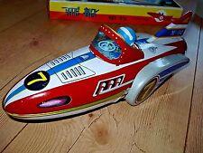 Tinplate tin toy Space ship Patrol rocket man Robot MF 742 Flying Boat vtg China