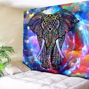 Animal Elephant Decor Psychedelic Tapestry Wall Hanging Mandala Hippie Chakra