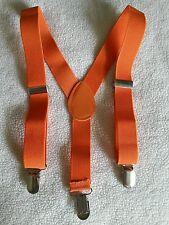 *NEW HDE Orange Suspenders 27 inches  2 - 6 Years Elastic Adjustable