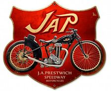 JAP J.A.Prestwich Speedway Motorcycles Shield steel sign 430mm x 370mm  (pst)
