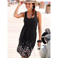 Womens Holiday Mini Playsuit Ladies Boho Blouse Summer Casual Beach Shirt Dress