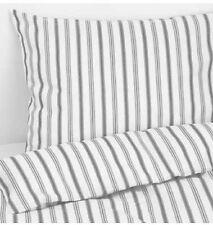 Conjunto de edredón individual de Ikea hostoga, 150x200 cm, gris a rayas, 2 fundas de almohada, BNWT