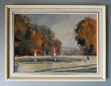 Antique Dorothy Rimmer abstract landscape oil painting