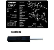 For Glock 19 Tek-Mat Gun Cleaning Bench Mat & Ghost Glock Tool Combo Kit