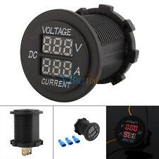 DC 10-20A 12-24V Dual LED Digital Voltmeter Ammeter Amp Volt Meter Guage