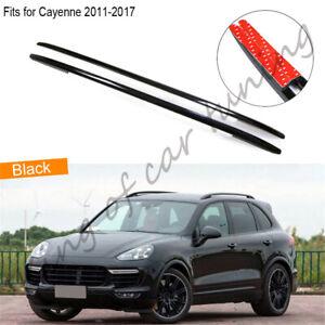 Roof rack fits for Porsche Cayenne 2011-2017 2pcs aluminium alloy baggage 2PC BK