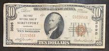 1929 Shreveport $10 Note