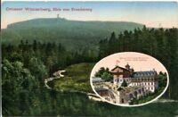 uralte AK, Großer Winterberg, Blick vom Fremdenweg, sächsische Schweiz