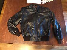 Members Only Mens 40 Full Zip Genuine Leather Jacket Motorcycle Bomber Brown
