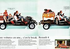 PUBLICITE ADVERTISING 106  1966  Renault 4 (2p)   la 4L Break