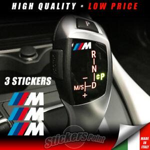 3 Adesivi pomello cambio M PERFORMANCE BMW stickers serie1-2-3-4-5-6-7 POWER
