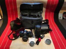 Minolta X-700 35mm Slr Film Camera with Two Lenses and Accessories
