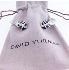 David Yurman Black Onyx Cable Wrap Bangle With Diamonds 4mm