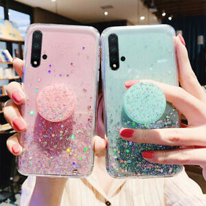 Luxury Bling Glitter Case For Huawei P40 Pro Honor 10Lite Y6S With stand Holder