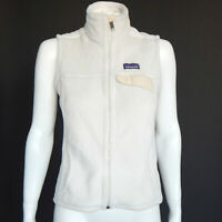 PATAGONIA Raw Linen Cream Pocket Re Tool Full Zip Vest Jacket size Small /4359