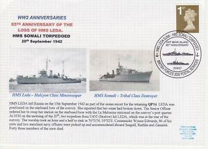 GB Stamps Navy Souvenir Cover WWII Anniversaries Loss HMS Leda & HMS Somali 2007