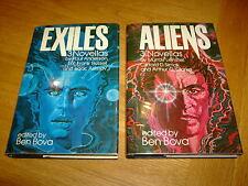 BEN BOVA Ed-ALIENS & EXILES-ASIMOV/CLARKE/ETC-1ST's-1978-VG/NF-HB's-RARE