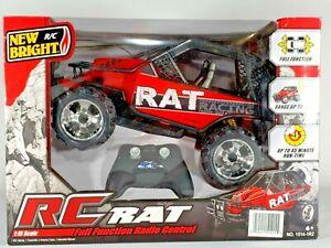 New Bright RC ATV Rat Racing Red Black Radio Control Remote Control Car