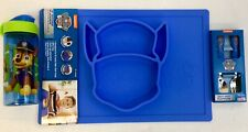 Zak! Paw Patrol dinner meal time set. Placemat, Flatware and Flip Top Bottle