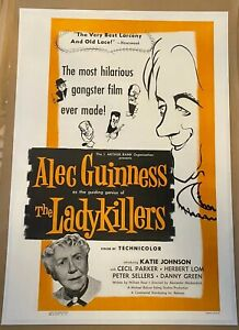 The Ladykillers Original US Film Poster LINEN BACKED One Sheet 1956 RARE