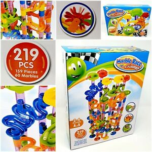 219pcs Marble Run Race Toy Construction Building Block Game Track Drop Marbles