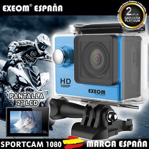 "CAMARA DEPORTIVA 1080P HD 2"" Tipo SJ4000 SJCAM SUMERGIBLE DEPORTIVA Marca España"