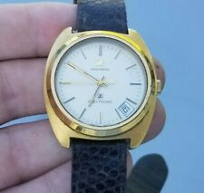 Vintage MOVADO Electronic Zenith Tuning Fork Movement WORKING Gold Plated Watch