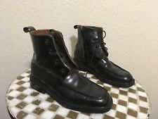 GUCCI BLACK LACE UP ZIP UP BOOTS 7 B