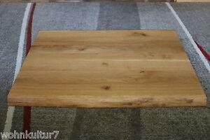 Tischplatte Platte Eiche Wild Massiv Holz mit Baumkante NEU Tisch Brett Leimholz