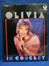 SEALED Olivia Newton John In Concert Japan VHD Video Disc VHM68015 NOS Physical