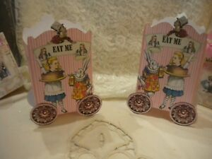 Alice in Wonderland Popcorn / Candy Box / Party Favor (4)