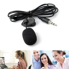 Mini 3.5mm Clip on Lapel Clip Microphone for Lectures Cell Phone PC Laptop Pad