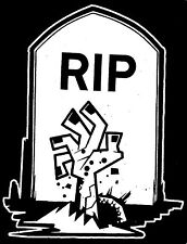 "Zombie R.I.P Gravestone Family Car Decal Sticker    ""The Walking Dead"""