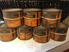 Rare 7 1940s 1/4 Pint CANS of HARLEY-DAVIDSON Motor Co Brown Leather Lacquer