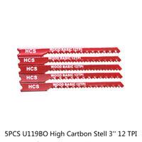 5pcs 3'' 12 TPI U Fitting Jigsaw Blades Metal Wood Jig Saw For Black & Decker