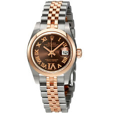 Rolex Lady Datejust Chocolate Diamond Dial Automatic Watch 179161CHRDJ