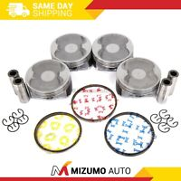 Pistons w/ Rings fit 06-10 Subaru Legacy Forester Outback 2.5 SOHC EJ253