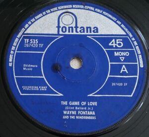 "Wayne Fontana - The Game Of Love -  1965 7"" Vinyl  Single"