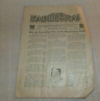 VTG Mount Morris IL Dec 1921 Kablegram for Organization work, montly periodical
