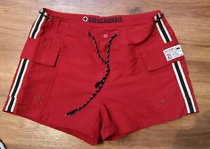 """Women's Abercrombie Surf Guard  1892  Shorts Size small  Red 30"""" Waist"""